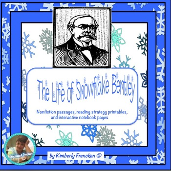The Life of Snowflake Bentley: NonFiction printable & interactive notebook pages