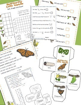 Butterfly Life Cycle, Learning Cube, Roll, Graph and Count