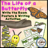 Butterfly Life Cycle Posters and Write the Room Activities