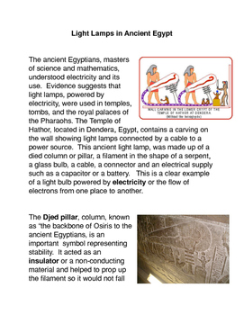 The Light Lamps of Ancient Egypt