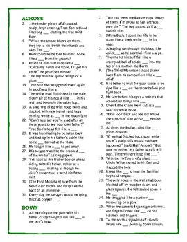 The Light in the Forest: Simile Crossword Puzzle—Unique Intro to Fig. Language!