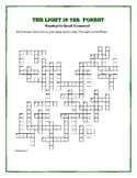 The Light in the Forest: Reading for Detail Crossword—Great Test Review!