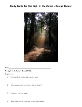 The Light in the Forest Study Guide