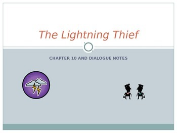 The Lightening Thief Chapter 10 Notes