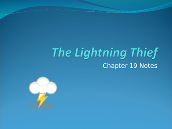 The Lightening Thief Chapter 19 Notes