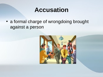 The Lightening Thief Chapter 9 Vocabulary PowerPoint