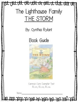 The Lighthouse Family: The Storm activity sheets