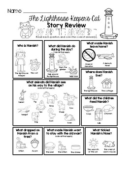 The Lighthouse Keeper's Cat - Story Review Worksheet Set