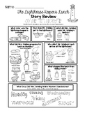The Lighthouse Keeper's Lunch - Story Review Worksheet Set