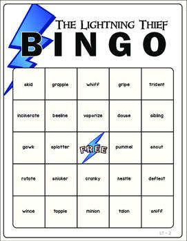 The Lightning Thief Vocabulary Bingo