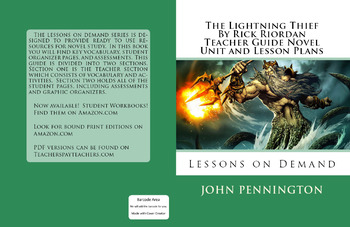 the lightning thief by rick riordan teacher guide novel unit and