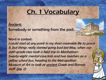 The Lightning Thief Ch. 1-5 Vocabulary