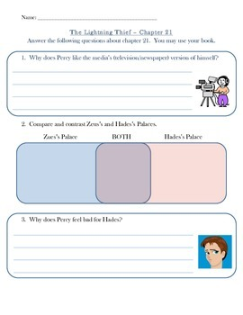 The Lightning Thief Chapter 21 Quiz or Group Activity