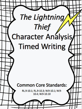 The Lightning Thief Character Analysis - Timed Writing