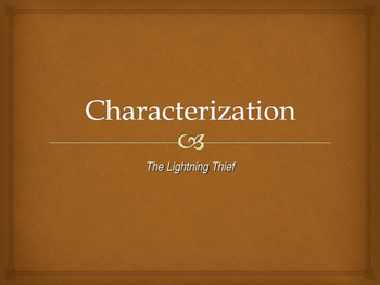 The Lightning Thief Characterization - Hero Lesson