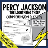 Percy Jackson and The Lightning Thief Novel Study (Comprehension Questions)