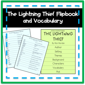 The Lightning Thief Graphic Novel Flipbook and Vocabulary Cards