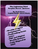 The Lightning Thief Graphic Novel Packet Digital Quizzes A