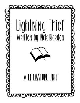 The Lightning Thief by Rick Riordan Literature Unit (A Nov