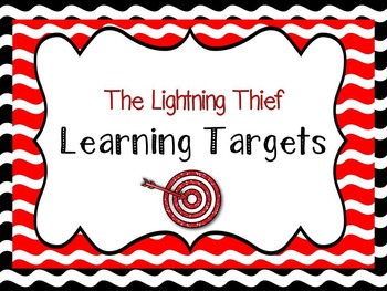 The Lightning Thief Module 1 Lesson 1 Learning Targets