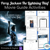 The Lightning Thief Movie Question Guide & After Viewing Activity