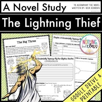 The Lightning Thief Novel Study Unit Comprehension Vocab