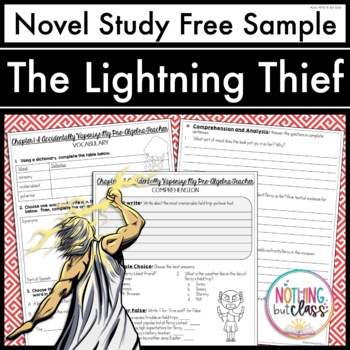 The Lightning Thief Novel Study Unit: FREE Sample