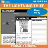 The Lightning Thief  Novel Study   Percy Jackson and the O