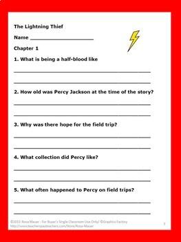 The Lightning Thief Novel Study