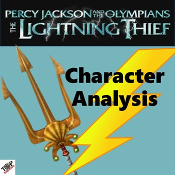 The Lightning Thief Percy Jackson Character Analysis Activities