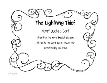 the lightning thief quote sort by msvice teachers pay teachers