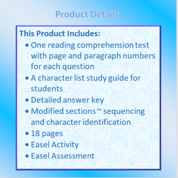The Lightning Thief Reading Comprehension Test - Ch. 1 - 3 Free Sample