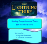 The Lightning Thief Reading Comprehension Tests - Regular/Modified