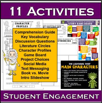 The Lightning Thief Novel Activities Super Bundle Unit