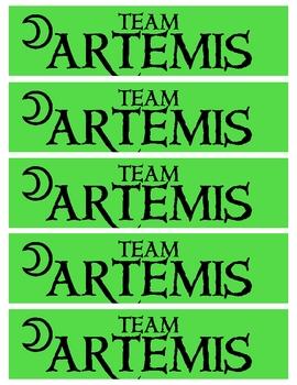 The Lightning Thief - Team Artemis Bookmarks