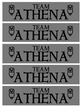 The Lightning Thief - Team Athena Bookmarks