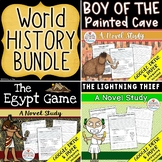 The Lightning Thief, The Egypt Game, Boy of the Painted Cave Novel Study Bundle