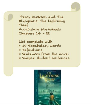 The Lightning Thief Vocabulary set Chapters 14-22