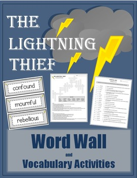 Lightning Thief - Vocabulary Activities and Word Wall