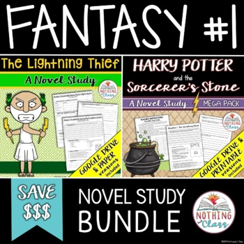 The Lightning Thief and Harry Potter and the Sorcerer's Stone Novel Study Bundle
