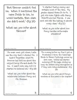 The Lightning Thief by Rick Riordan - Chapter 2 Activity Pack