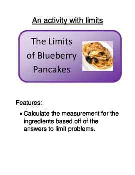 Calculus:  The Limits of Blueberry Pancakes (Calculating Limits)