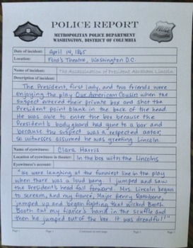 The Lincoln Assassination Police Report