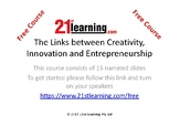 The Links between Creativity, Innovation and Entrepreneurship