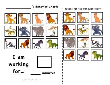 The Lion Guard Token Behavior Chart!