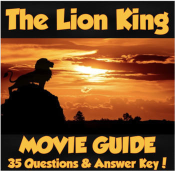 The Lion King 2019 Movie Guide 35 Questions Answer Keycharacter Guide