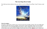 The Lion King Condensed Movie Guide
