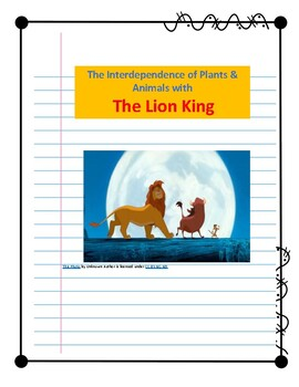 The Lion King: Interdependence of Plants & Animals