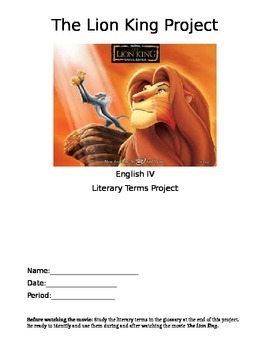 The Lion King Literary Device Project
