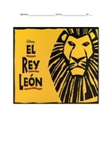 The Lion King Spanish El Rey Leon Activities and Movie Guide
